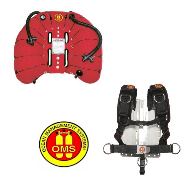 OMS 100LB Double Wing + Comfort Harness + S/S Backplate