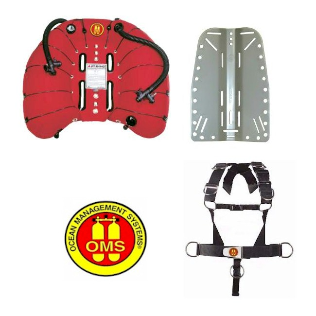 OMS 100LB Double Wing + Deluxe Harness + S/S Backplate