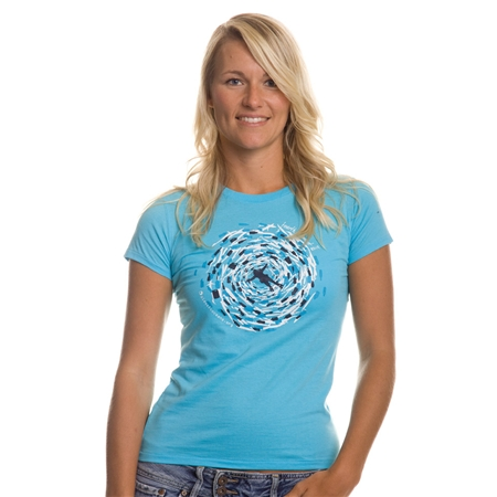 Fourth Element Plastic Problem Womens T-shirt Aqua