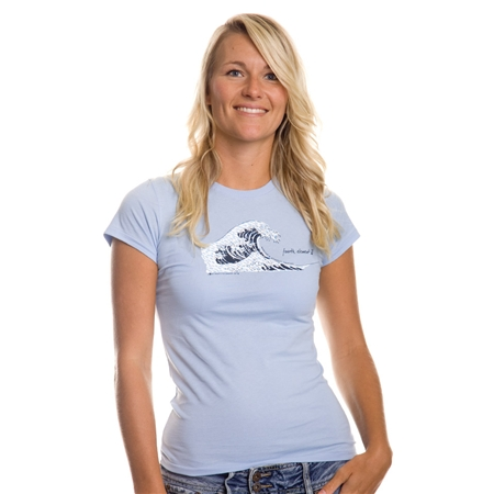 Fourth Element Plastic Tsunami Womens T-Shirt Blue