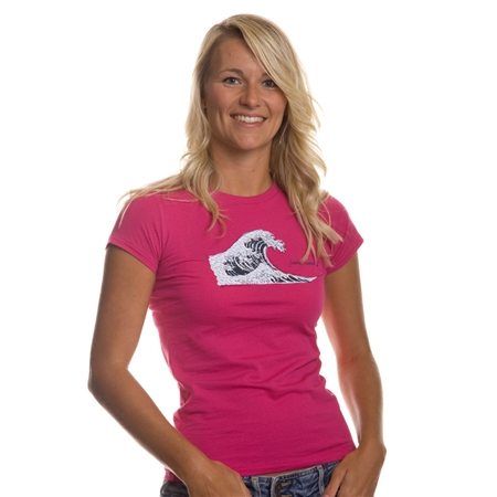 Fourth Element Plastic Tsunami Womens T-Shirt Raspberry