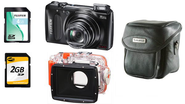 Fuji F500EXR Underwater Bundle