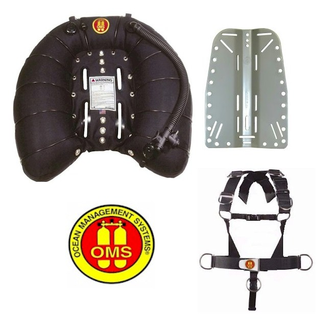 OMS 100LB Single Wing + Deluxe Harness + S/S Backplate