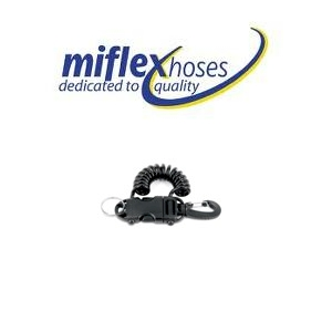 Miflex Smart Coil Extendable Clip - Standard with 40mm Carabinee