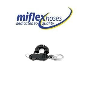 Miflex Smart Coil Extendable Clip - Vela with 70mm S/S Carabinee
