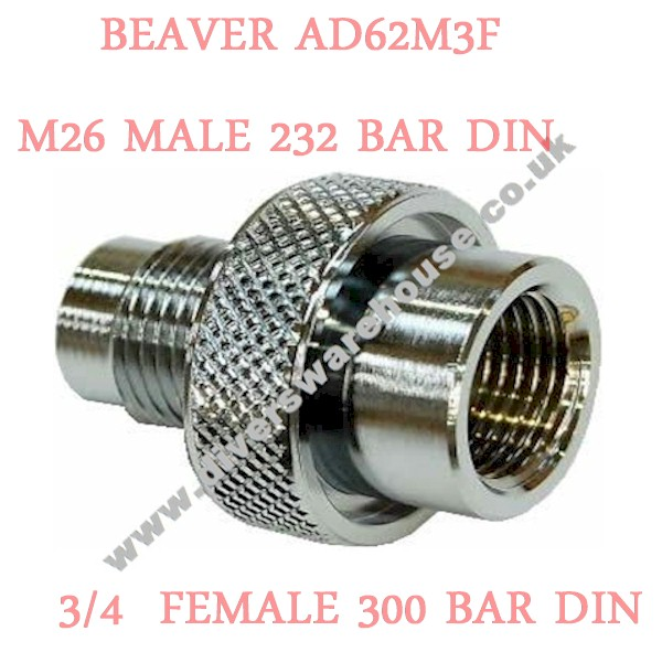 Beaver AD 62M3F 232 Bar M26 Male/300 Bar Din Female