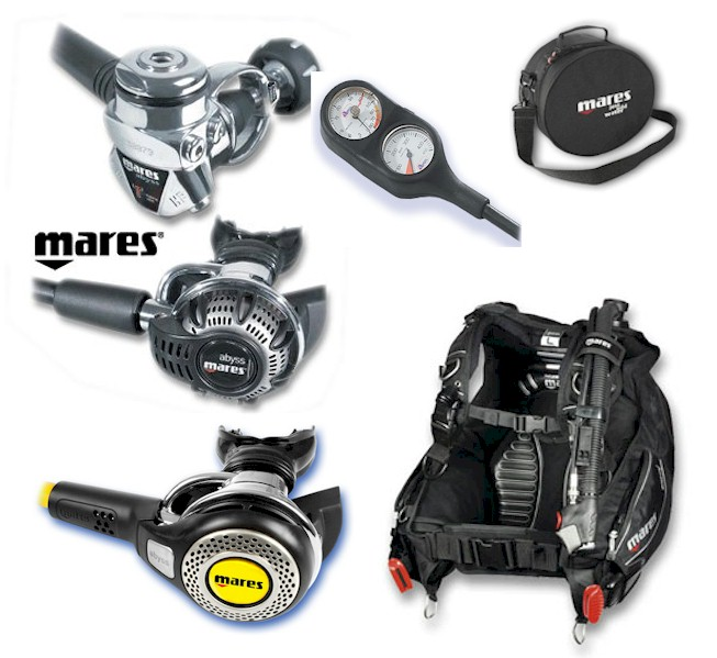 MARES PACKAGE ABYSS M22/ABYSS/2 GAUGE/DRAGON BCD
