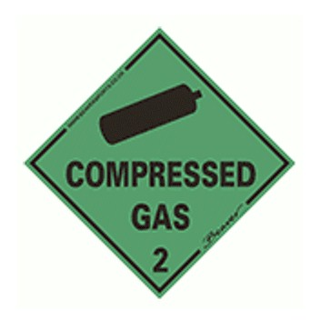 Beaver Compressed Gas Sticker CGS