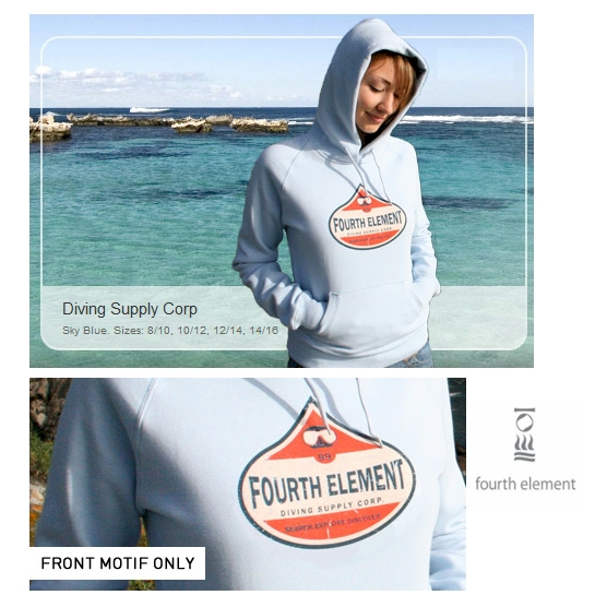 Fourth Element Ladies Diving Supply Corp Hoody