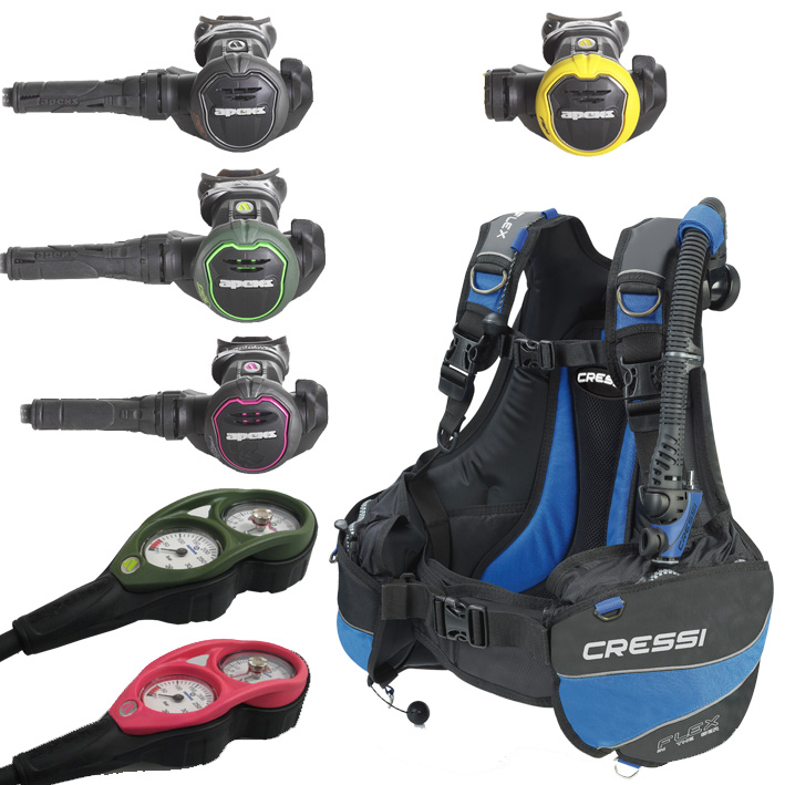 Apeks/Cressi Lightweight Travel Package
