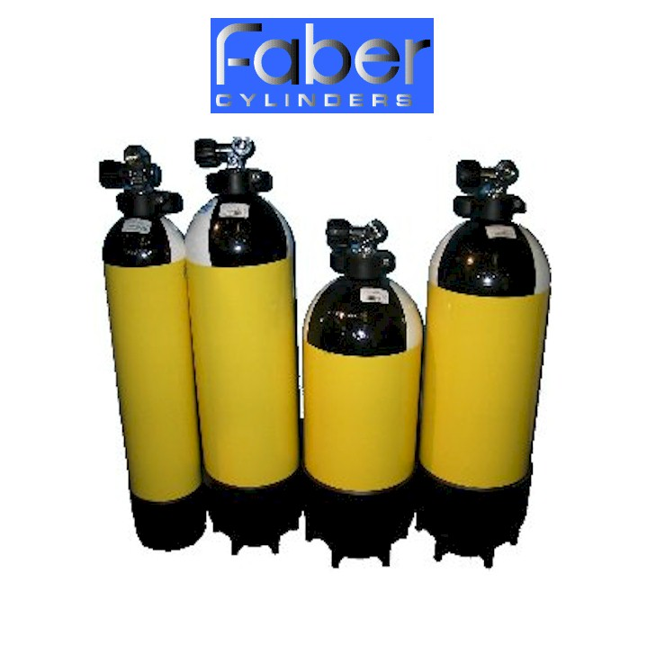 Faber 7 Ltr Steel Cylinder 232 Bar