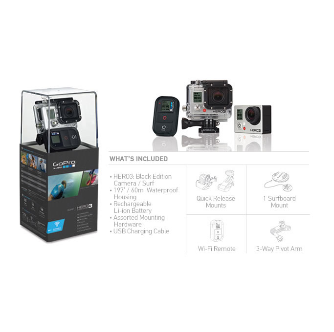 GoPro Hero3 Black Edition - Surf