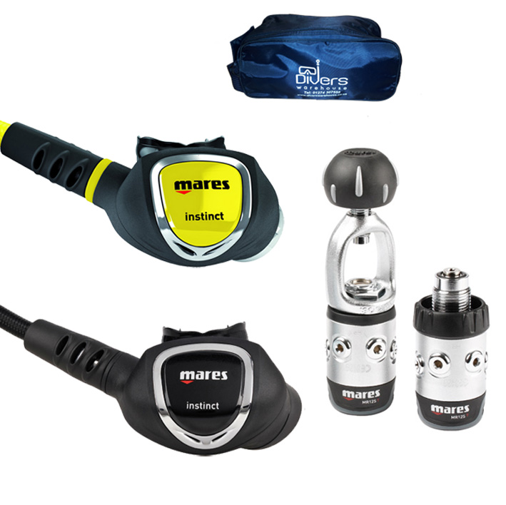 Mares Instinct 12s Regulator, Octo + Bag