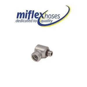 Miflex LP 90 degree L shaped adaptor - (1 stripe)