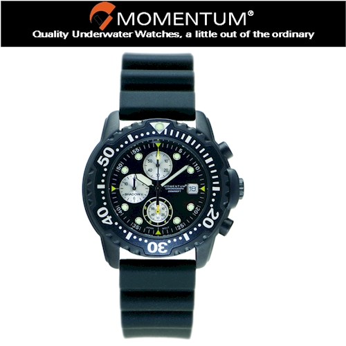 Momentum Shadow Chrono Rubber Watch
